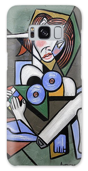 Nude Woman With Rubiks Cube Galaxy Case
