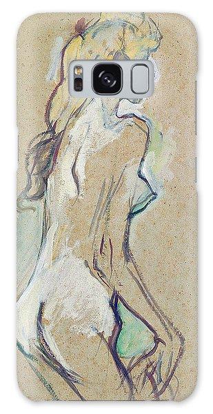 Beautiful Girl Galaxy Case - Nude Young Girl by Henri de Toulouse-Lautrec