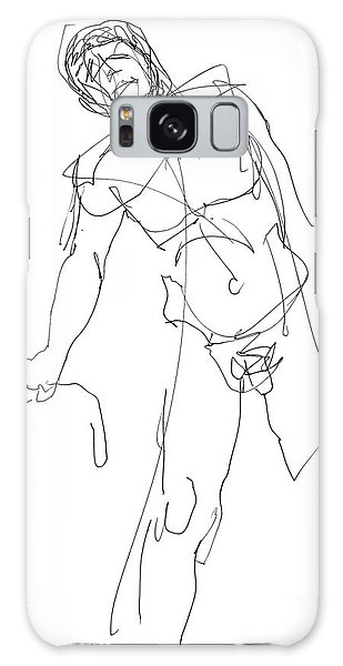 Nude_male_drawing_30 Galaxy Case