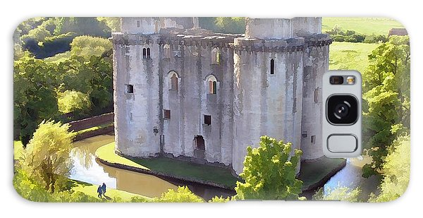 Nunney Castle Painting Galaxy Case