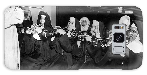 Trombone Galaxy Case - Nuns Rehearse For Concert by Underwood Archives