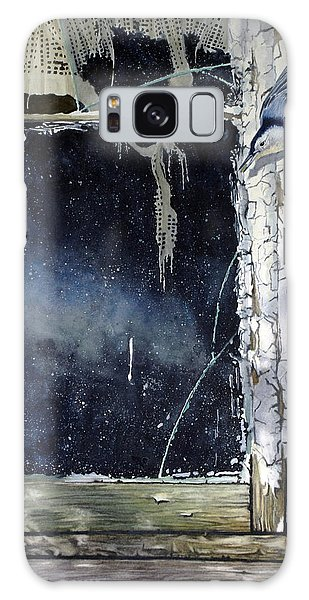 Nuthatch And Window Galaxy Case
