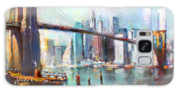 Cityscape Galaxy Case - Ny City Brooklyn Bridge II by Ylli Haruni