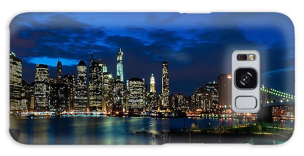 Ny Skyline From Brooklyn Heights Promenade Galaxy Case
