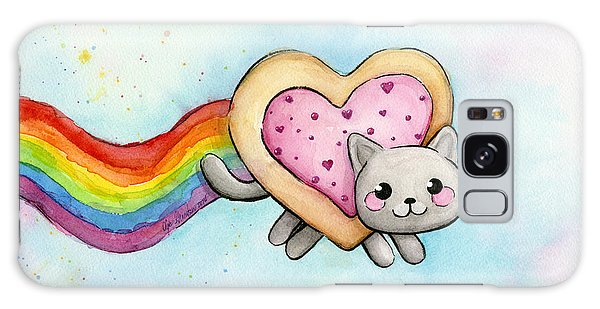 Cat Galaxy Case - Nyan Cat Valentine Heart by Olga Shvartsur