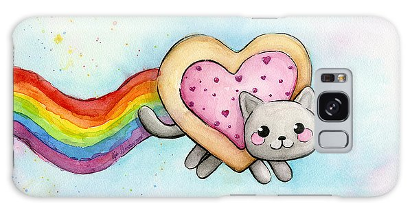 Nyan Cat Valentine Heart Galaxy Case