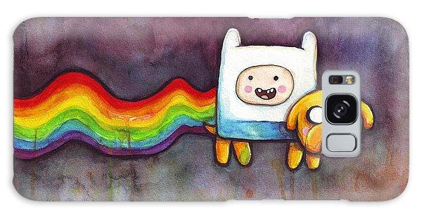 Rainbow Galaxy Case - Nyan Time by Olga Shvartsur