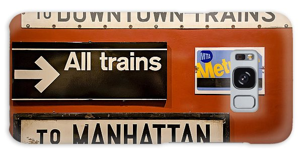 Galaxy Case featuring the photograph Nyc Subway Signs by Susan Candelario
