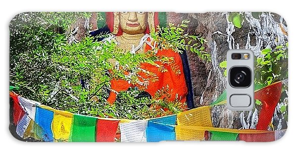 Religious Galaxy Case - Nyetang Buddha And Prayer Flags by Hitendra SINKAR