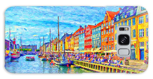 Nyhavn In Denmark Painting Galaxy Case