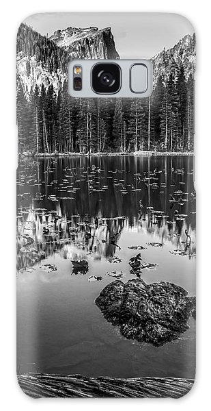 Nymph Lake Sunrise Black And White Galaxy Case