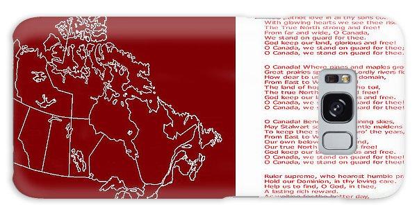 O Canada Lyrics And Map Galaxy Case