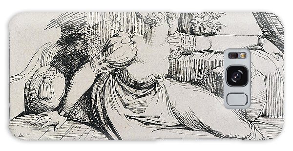 Pen And Ink Drawing Galaxy Case - O Evening Thou Bringest All by Henry Fuseli