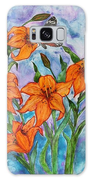 O Tiger Lily Galaxy Case by Janet Immordino