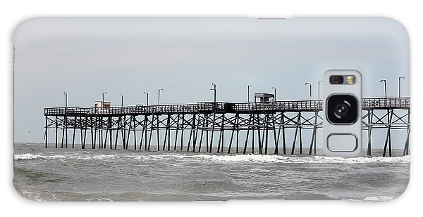Oak Island Beach Pier Galaxy Case
