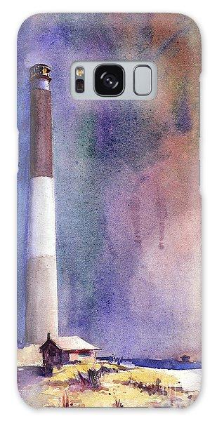 Oak Island Lighthouse Galaxy Case