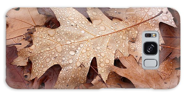 Oak Leaves And Water Drops Galaxy Case