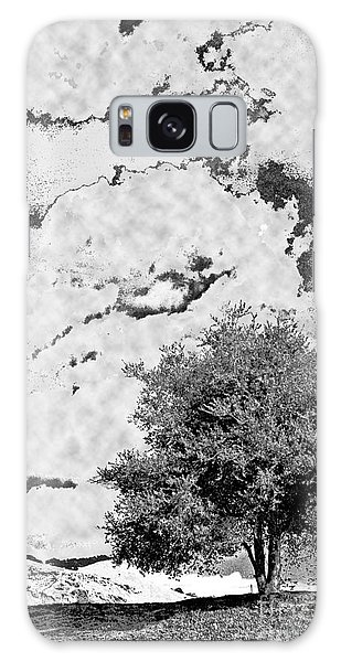 Oak On A Hill Blk And Wht Galaxy Case by Gary Brandes