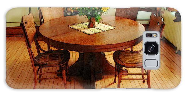 Oak Table And Chairs Galaxy Case by David Blank