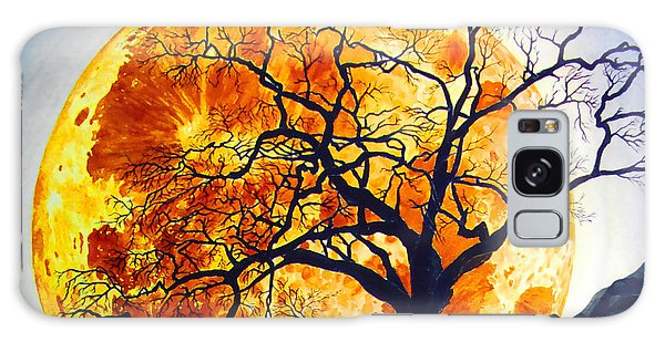 Oak Tree Moonrise Galaxy Case