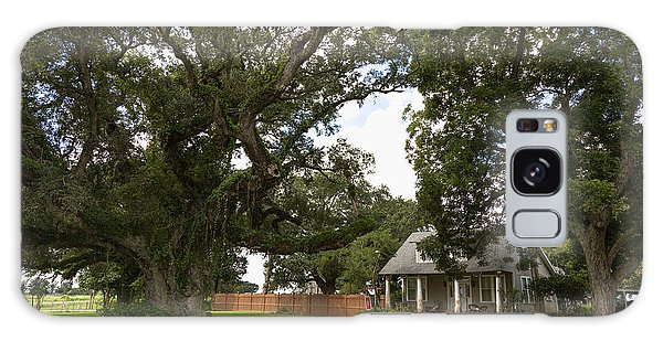 Oak Trees Around Country House Galaxy Case