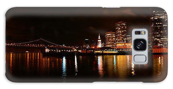 Oakland Bay Bridge At Night Galaxy Case