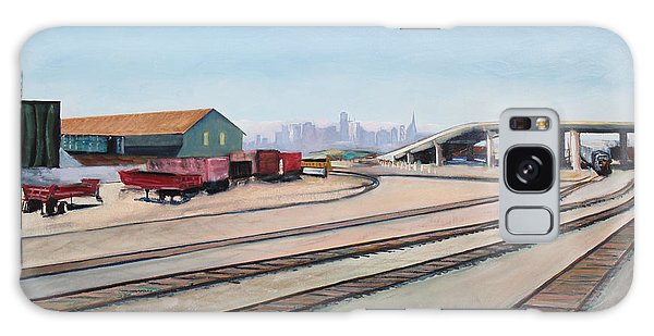 Oakland Train Tracks And San Francisco Skyline Galaxy Case