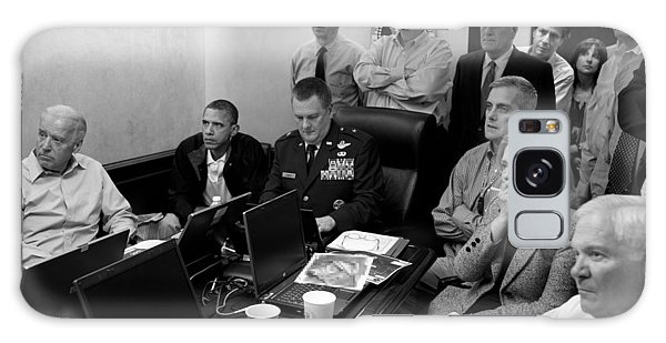 Barack Obama Galaxy Case - Obama In White House Situation Room by War Is Hell Store