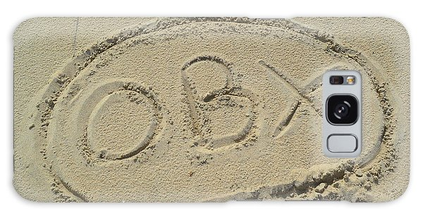 Obx Sign In The Sand Galaxy Case