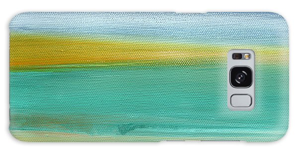 Abstract Landscape Galaxy Case - Ocean Blue 3- Art By Linda Woods by Linda Woods