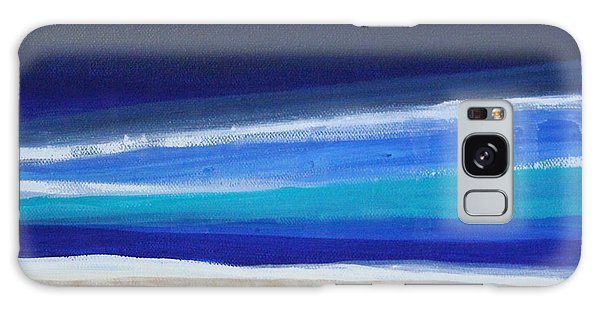 Abstract Landscape Galaxy Case - Ocean Blue by Linda Woods