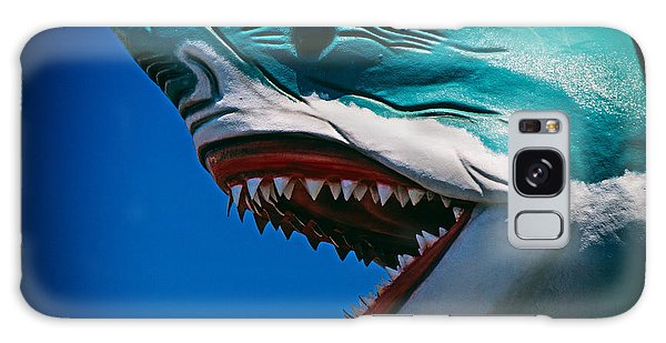 Ocean City Shark Attack Galaxy Case by Bill Swartwout