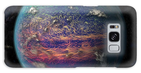 Earth From Space Galaxy Case - Ocean Currents In The Pacific Ocean by Karsten Schneider