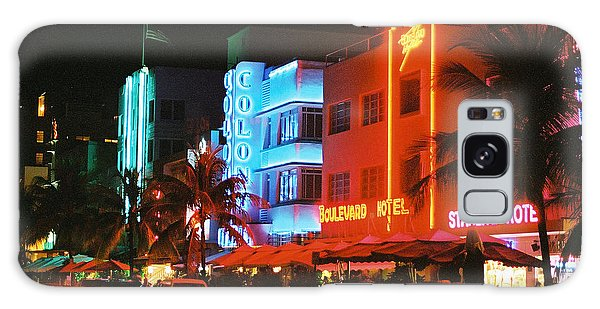 Ocean Drive Film Image Galaxy Case