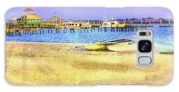 Coastal - Beach - Boats - Ocean Front Property Galaxy Case