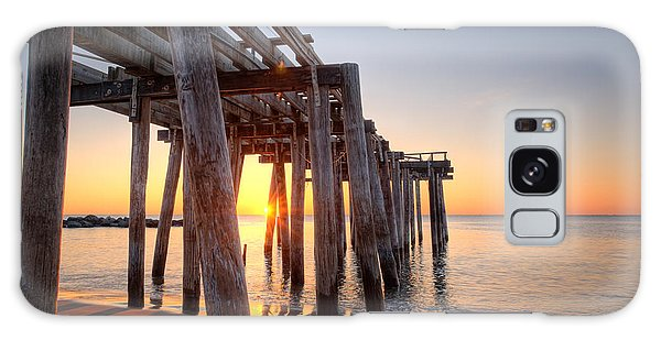 Ocean Grove Pier Sunrise Galaxy Case