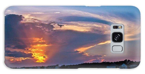 Ocean Isle Sunset Galaxy Case