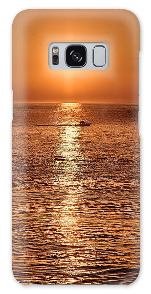 Ocean Sunrise At Montauk Point Galaxy Case