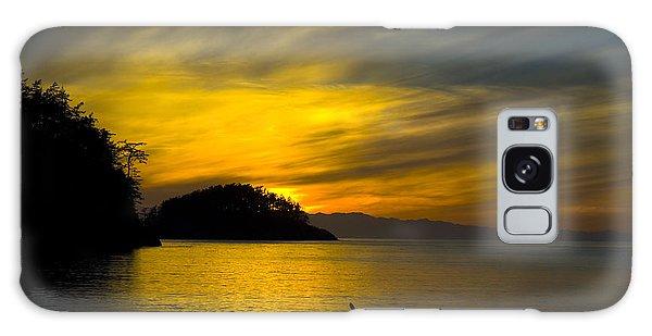 Ocean Sunset At Rosario Strait Galaxy Case