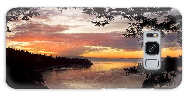 Ocean Sunset Deception Pass Galaxy Case