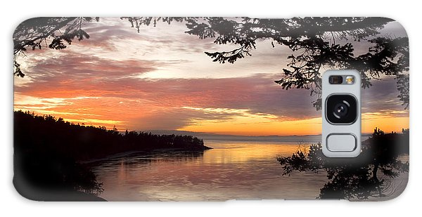 Ocean Sunset Deception Pass Galaxy Case