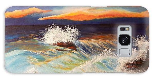 Ocean Sunset Galaxy Case by Michelle Joseph-Long