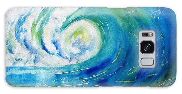 Ocean Wave Galaxy Case by Carlin Blahnik