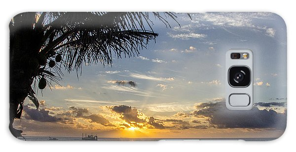 Oceanfront Park Sunrise 1 Galaxy Case by Don Durfee