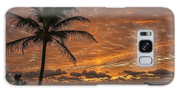 Oceanfront Park Sunrise 2 Galaxy Case by Don Durfee