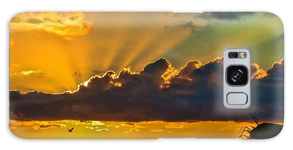 Oceanfront Sunrise Galaxy Case by Don Durfee