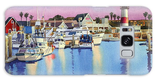 Docked Boats Galaxy Case - Oceanside Harbor At Dusk by Mary Helmreich