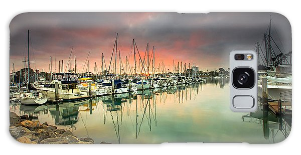 Oceanside Harbor Sunrise Galaxy Case