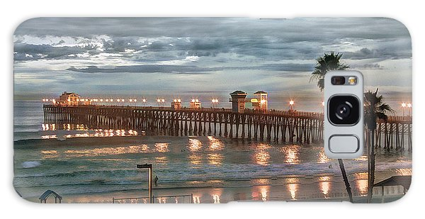 Oceanside Pier At Dusk Galaxy Case