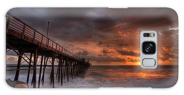 Oceanside Pier Perfect Sunset Galaxy Case by Peter Tellone